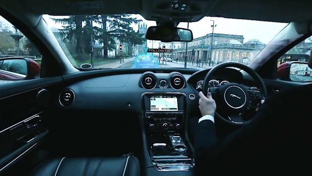 Jaguar Unveils Ghost Car Windscreen Tech