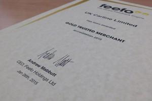 Feefo Certificate