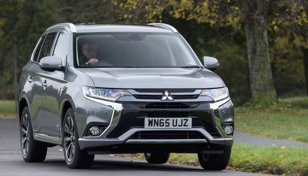 next green car suv winner mitsubishi outlander phev