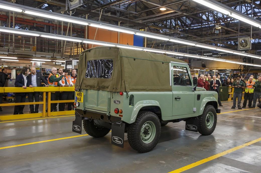 last land rover defender rear view