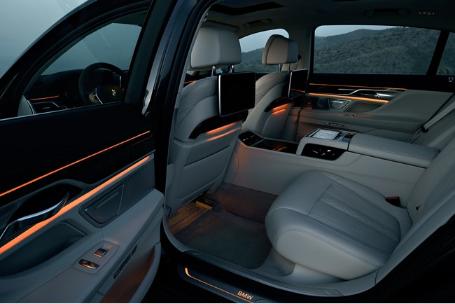 new bmw 7 series back seats