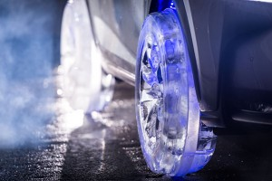 lexus nx with wheels made from ice