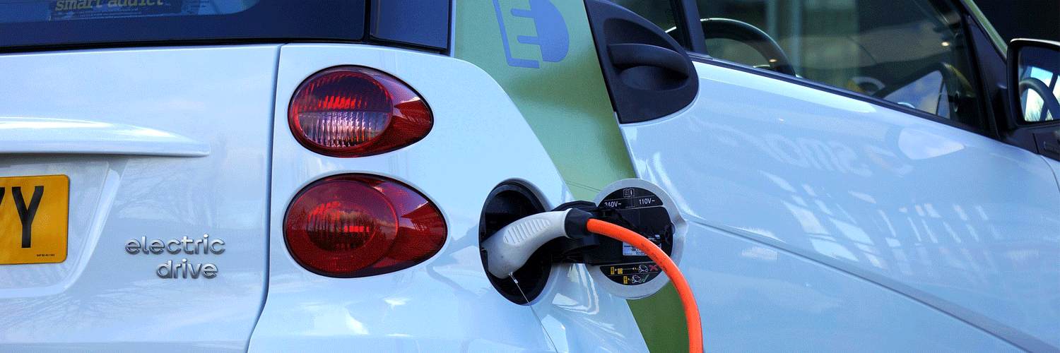 Plugged in electric car