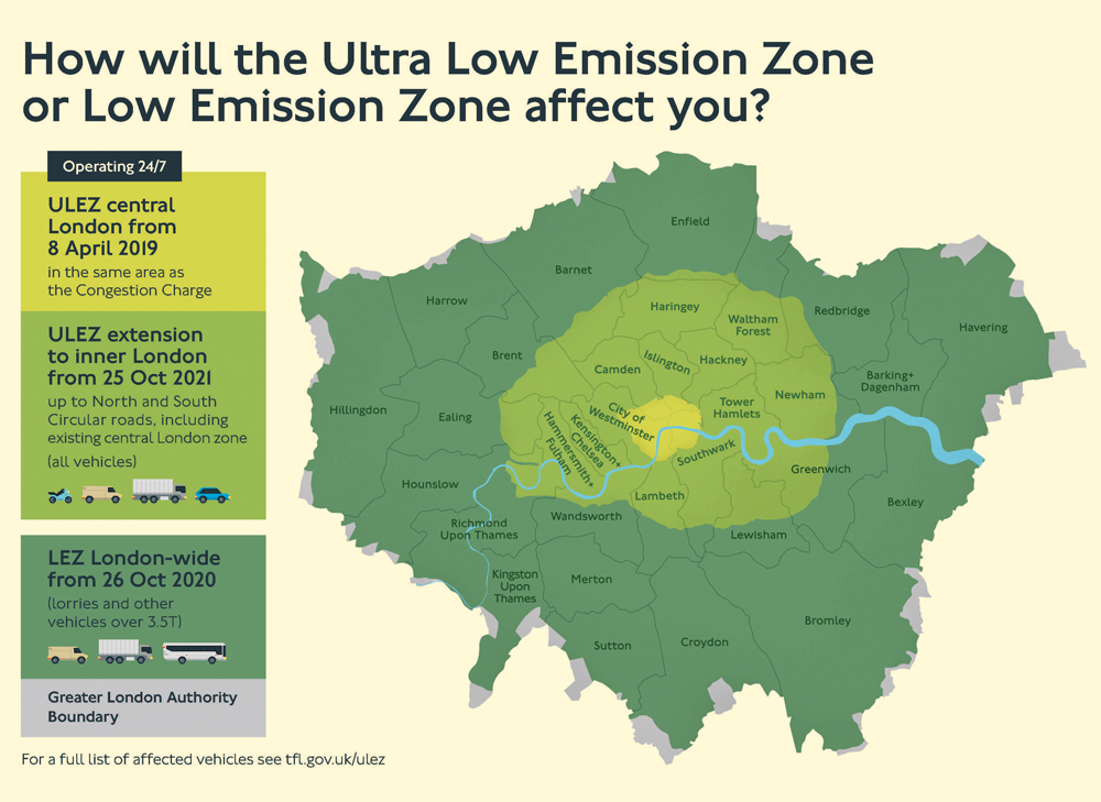 Lez Zone Map Low Emission Zone Map | Bedroom 2018