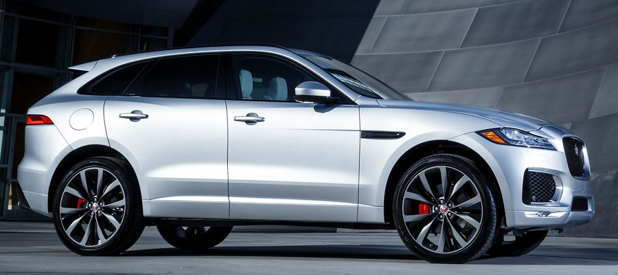 all new jaguar f pace side profile