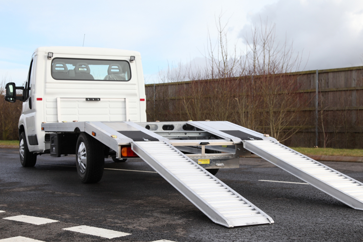 citroen car transporter rear with extended ramps