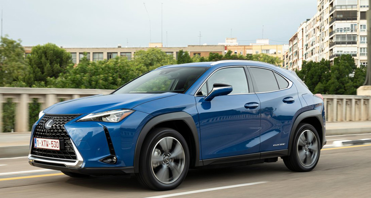 All new Lexus UX 300e electric leasing front view