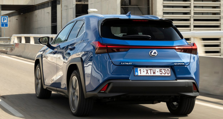All new Lexus UX 300e electric leasing rear view